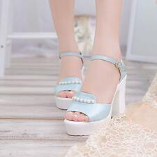 Summer Women's Sexy Casual High Heel Platform Open Peep Toe Wedges Sandals Shoes