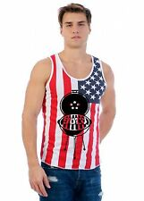 Men's USA Flag Tank Top 4th Of July Grill Cool USA Flag Top