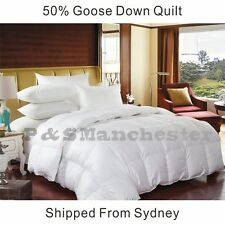 NEW WARM  50% Goose Down Quilt Doona Duvet Single/Double/Queen/King/Super King
