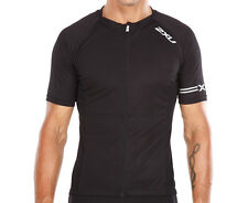 Men's 2XU Road Comp Cycle Jersey - Black