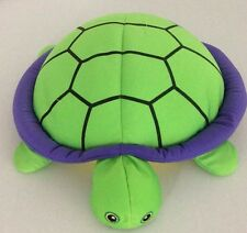 Microbead Turtle Plush Green Purple Yellow Squishy Pillow Stitched Eyes 14""
