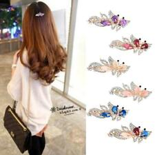 Fashion Women Crystal Butterfly Barrette Hair Clip Gold Metal Hair Accessories
