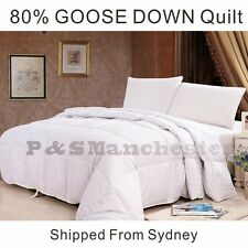 SUPER WARM 80% WHITE GOOSE DOWN Quilt Doona Duvet Single/Double/Queen/King