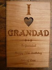 "I LOVE ""ANY NAME"" Wooden Card 