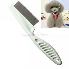 Pet Dog Cat Shedding Brush Metal Double Row Teeth Grooming Hair Comb Rake Tool