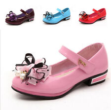 Fashion Kid Girl Child Bow Flower Dress Shoe Princess Mary Jane Dance Party Flat