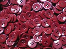 Large 25mm 40L Chunky Burgundy Wine Red 4 Hole Coat Cardigan Buttons (W158)