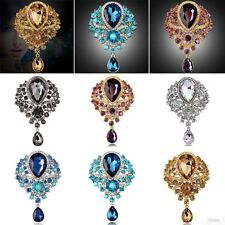 Charming Women Alloy Rhinestone Crystal Flower Wedding Bridal Bouquet Brooch Pin