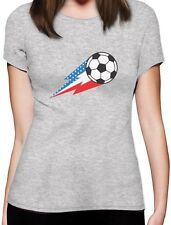USA Team Soccer Ball American Flag Women T-Shirt Gift Idea