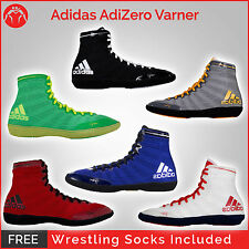 Brand New Adidas Adizero Jake Varner Wrestling Shoes With Free Wrestling Socks