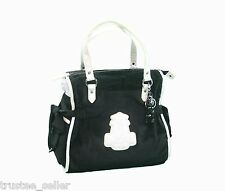 Juicy Couture Fashion Black Crisp Cool Ms Daydreamer Tote Bag W/ Crystal Charm