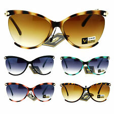 Womens Exposed Lens Oversize Butterfly Designer Fashion Sunglasses