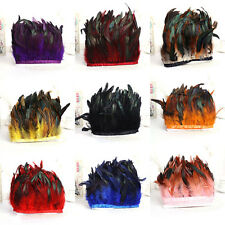 Wholesale Rooster Feathers Dyed Natural 4-6inch Fringe Trim For Hat Sewing Craft