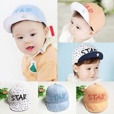 Child Kid Letters Embroidery Stars Print Baby Brim Flang Sun hat Baseball Cap