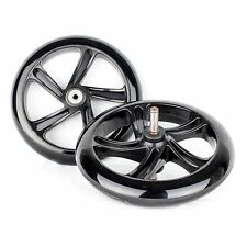 "PU 7 9/10in Replacement wheels for Swing drive ""Space Scooter"" black"