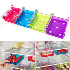 Slide Kitchen Fridge Freezer Space Saver Organizer Storage Rack Shelf Holder Hot