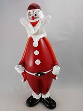 "Murano art glass Morbideidee  Santa Claus  Murano Italy 12 1/4"" with tag"