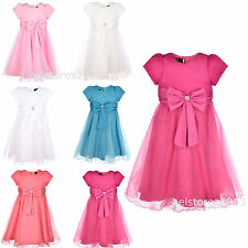 Girls Wedding Party Dress Flower Formal Bridesmaid Size Age 2-13 Years New