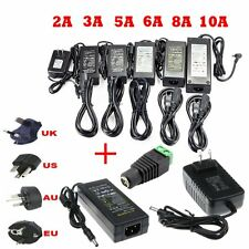 1A2A/3A/5A/6A/8A/10A Power Supply Charger AC/100-240V to DC/12V Led Strip Lights