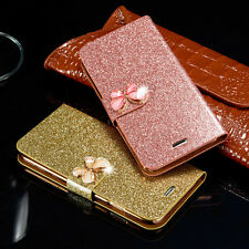 Bling Luxury PU Leather Magnetic Flip Wallet Stand Cover Case For Apple iPhone