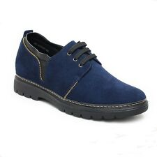 Chamaripa Men Suede Leather Casual Outdoor Dress Athletic Elevator Shoes 2.76''