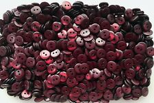 Small 12mm 15mm Maroon Brownish Red 2 Hole Shirt Buttons Sewing Craft (ML6-S-T)