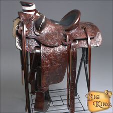 WD092WN HILASON BIG KING WESTERN LEATHER WADE RANCH ROPING HORSE SADDLE 15 16 17