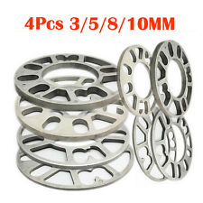 4pcs 3-10MM CAR ALLOY WHEEL SPACERS SHIMS SPACER UNIVERSAL 4 AND 5 STUD FIT