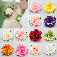 Fashion Rose Flower Hairpin Brooch Wedding Bridesmaid Party Accessories Hair CTY