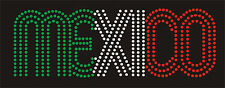 Mexico Rhinestone iron on Bling Transfer DIY Hot fix Applique