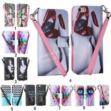 New Luxury Rope for Apple iPhone Skins Strap Stand Wallet PU Leather Case Cover