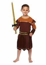 Boy Roman Soldier Fancy Dress Dressing Up Outfit World Book Day Costume Age 4-12