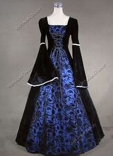 Renaissance Medieval Queen Princess Dress Gown Theatrical Halloween Costume 129