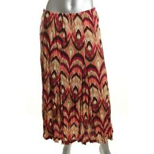 JM Collection Multi Crinkled Pattern A-Line Maxi Skirt Bottoms - NEW
