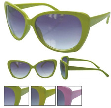 Retro Vintage Oversized Cats Eye Sunglasses Yellow Pink Green Glasses Womens