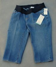 NWT $44 Oh Baby by Motherhood Maternity Underbelly Denim Capri Jeans Sizes S M L