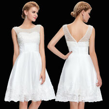 Ball Evening Prom Party Dress Sexy Short White Wedding Bridesmaids Tulle Netting