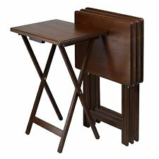 Winsome Wood 94419 4-Piece Single TV Tray Tables Set