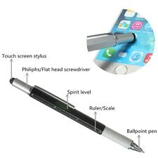 Steel Multitool Pen - Screwdrivers, Ruler, Spirit Level, Stylus & Pen - EDC