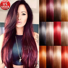 "7 PCS Long 18"" 20"" 22"" Clip In Remy Human Hair Extensions Full Head US Seller A7"