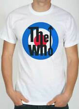 T-shirt The Who, T-shirt white with drawing target mod, logo style music rock