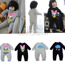 Baby Girl Boy Cartoon Infant Romper Bodysuit Toddler Kid Onesie Jumpsuit Clothes