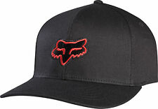 NEW FOX RACING LEGACY FLEXFIT HAT BLACK RED FLEX FIT CAP HAT LID MENS ADULT GUYS