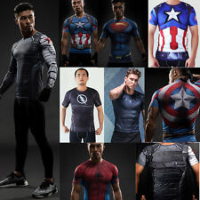 Captain America Black Panther Compression Shirt Bucky Civil War Winter Soldier