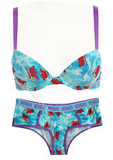 Disney Ariel The Little Mermaid Blue Panties Hipster Hot Pants OR Racer Back BRA