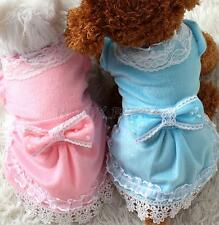 Pet Dog Clothes Bowknot Tutu Dress Puppy Cat Lace Skirt Pearls Princess Apparel