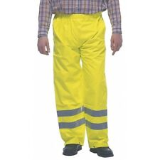 Grafters HI-VIZ Fluorescent Waterproof Safety Workwear Over Trousers Yellow