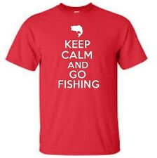 Keep Calm and Go Fishing Mens T-Shirt  Bass Fishing Fish Mens Tee More Colors