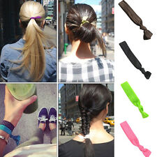 Hair Ties Ponytail Holders Hairbands Scrunchie Bracelets Rope Wristband 10 Color