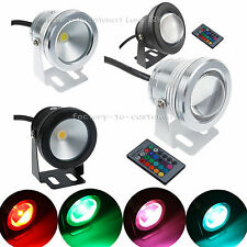 LED Underwater Spot Light 10W RGB 12 V Flood Light Warm Cool Garden Outdoor Lamp